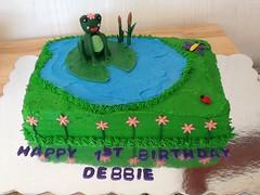 Frog Cake by Marla, Santa Cruz, CA, www.birthdaycakes4free.com