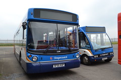Stagecoach Western 22389 SF55VUP & 47356 SF06OVG (Will Swain) Tags: uk travel west bus buses june scotland britain garage north transport western depot 10th ayr northern stagecoach 2013 22389 47356 sf55vup sf06ovg