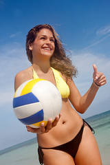 Bikini woman with a volleyball (gilbert_ahephe) Tags: ocean travel sea summer portrait sky people woman game cute beach sports water girl beautiful beauty smile smiling sport female ball fun outdoors happy person spring athletic holidays pretty break play adult gorgeous young happiness player clear bikini smiley enjoy latin blonde attractive caribbean volleyball hispanic cheerful swimsuit vacations enjoying volley enjoyment sporty swimwear latinamerican destinations unitedkingdomofgreatbritainandnorthernireland