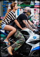 (seua_yai) Tags: street sea people cute sexy beach beautiful fashion thailand women asia southeastasia candid thai lovely motorbikes pattaya thaipeople gulfofthailand thaigirl thaiwomen thailady pattayagirl