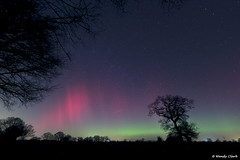 Dancing Red Curtains 27 02 14 (twinklespinalot) Tags: aurora astronomy essex 1022mm spaceweather astrophotos felsted canoneos700d aurorawatch