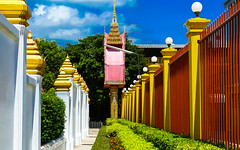 Wat Chantaram Complex (Butch Osborne) Tags: travel pink tourism beautiful wall fence thailand religious temple amazing interesting gate colorful tour unique buddhist awesome religion scenic culture thai 1001nights siam complex cultural mustsee bucketlist 1001nightsmagiccity