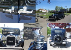 Old Ford (Landanna) Tags: blue sky castle denmark vintagecar blauw slot dnemark danmark als oldford denemarken bl snderjylland nordborg nordborgslot zuidjutland nordborgcastle nordborgkasteel
