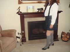 School Girl Uniform (dbbys shoes) Tags: school tv shoes cd skirt crossdressing blouse flats transvestite uniforms mjs kilts schoolgirl kneesocks tgurl blackpatent lowheels