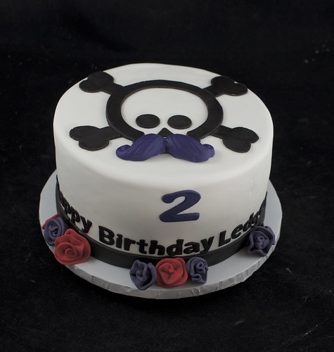 Peachy Skull And Mustache Birthday Cake A Photo On Flickriver Personalised Birthday Cards Veneteletsinfo