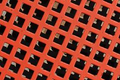 Op Art (gripspix (OFF)) Tags: light shadow red texture metal grid iron scrap metall schatten gitter schrott eisen rotlicht textur 20140505 scrapheapbeauties