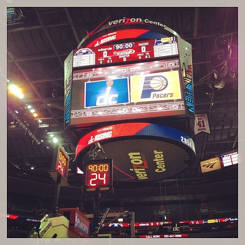Verizon Center, D.C. -- 5:49 pm, May 9, 2014 -- #Wizards-#Pacers Game 3.