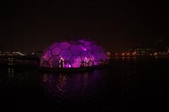 Drijvend Paviljoen at night (milov) Tags: water architecture rotterdam gallery purple nightshot ricohgr drijvendpaviljoen