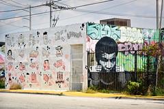 Wynwood Art District, view08, Wynwood, Miami, FL, USA (lumierefl) Tags: usa gallery factory unitedstates florida miami south northamerica fl publicart southeast 20thcentury subtropics wallmural outdoorart wynwood miamidadecounty