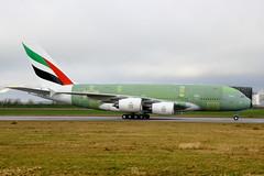 F-WWSF // Emirates // A380-861 // MSN 182 // A6-EOJ (Martin Fester) Tags: ferry airplane airport aircraft hamburg first f1 emirates airbus a380 primer msn runway 182 firstflight finkenwerder spotten testflight edhi a388 xfw ferryflight a380861 fwwsf msn182 xfwedhi a6eoj