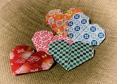 2/14/15 Happy Heart Day (Karol A Olson) Tags: hearts origami valentinesday burlap project3652015 mdpd2015 115picturesin2015 20heart