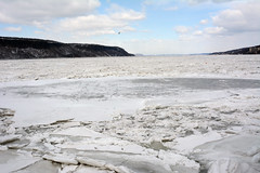 Picture Of Ice On The Hudson River New York State On A Cold February 2015 Winters Day. This Photo Was Taken At The John F. Kennedy Memorial Park And Marina in Yonkers New York. Photo Taken Thursday February 19, 2015 (ses7) Tags: new york ice river hudson
