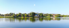 Bonanza Resort (drklunatic) Tags: park morning sky house lake tree home nature water canon reflections relax landscape photography daylight nice colorful day view bangkok sunny fresh clear 1855mm 2015 550d thailland kissx4