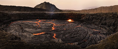 I am become death, the destroyer of worlds. (departing(YYZ)) Tags: africa travel panorama orange hot nature rock danger zeiss 35mm landscape fire death volcano lava dangerous energy glow force sony birth hell explosion adventure creation crater caldera heat glowing fe ethiopia alpha volcanic geothermal epic a7 harsh magma active molten tectonic otherworldly lavalake jawdropping geologic greatriftvalley afarregion danakildepression sonnartfe35mmf28za