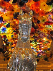 Bellagio Horse Centered (Nancy D. Brown) Tags: horse chihuly glass lasvegas nevada bellagio