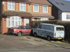 Parked up. (RUSTDREAMER.) Tags: ford rover transit parked scrap watford sorn roversd1 rustdreamer