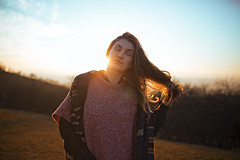 Oana (meandmypixels) Tags: autumn sunset portrait art girl beautiful beauty 35mm hair outdoors model 14 wide sigma