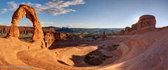 Delicate Arch - Sunset (OJeffrey Photography) Tags: sunset panorama clouds outdoors utah ut nikon anp pano archesnationalpark starburst delicatearch d800 ojeffrey ojeffreyphotography