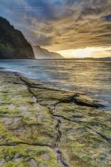 Sunset from the shores of Kee Beach, Kauai (PIERRE LECLERC PHOTO) Tags: ocean sunset sea beach kauai keebeach napalicoast pierreleclercphotography
