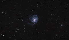 M101 - Pinwheel Galaxy (AstroBackyard) Tags: sky abstract black nature beautiful night dark stars real major glow image background space objects science 101 telescope galaxy fantasy pinwheel messier universe ursa constellation