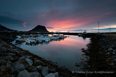 The harbour (Tmas Freyr) Tags: sunset sun reflection beach nature wet water clouds landscape mirror iceland kirkjufell sland snfellsnes grundarfjrur snaefellsnes landslag slsetur snaefellsnespeninsula grundarfjordur kirkjufellmountain