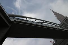 pedestrian overpass (sogni_hal) Tags: bridge tower clock architecture tokyo footbridge overpass