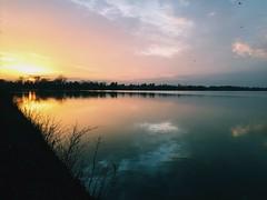 Night Lake (patrickiversen) Tags: sunset sky sun lake sol night copenhagen hiking horizon kbenhavn solnedgang gtur hvidovre rdovre s vanlse damhussen g