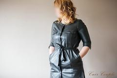 elle227 (Cuir Couple) Tags: leather bondage skirt bdsm master jacket jupe mistress veste leder matre pant pantalon cuero cuir hosen cravache maitresse martinet cuissardes