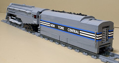 Dreyfuss_Hudson_08 (SavaTheAggie) Tags: lego steam engine locomotive hudson 464 henry dreyfuss new york central system nyc railroad train trains streamlined streamliner j3a