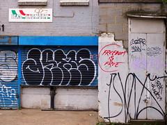 Freedom is free (Tom Bolton) Tags: graffiti ital italian laundry pub p