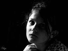 Mlancolie (Nadge) Tags: portrait white black key noir low atmosphere sombre fille blanc clair obscur mlancolie