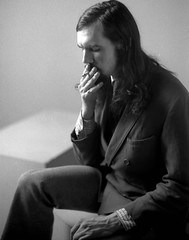 David Long, San Francisco 1972 (Dizzy Atmosphere) Tags: portrait cigarette smoker studioportrait ccsf studiolighting sanfranciscocitycollege citycollegeofsanfrancisco davidlong minoltasr2