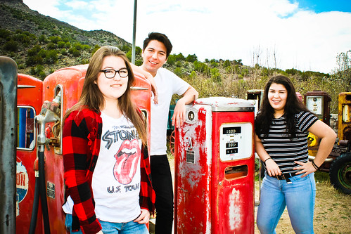 KIDS AT GAS PUMP