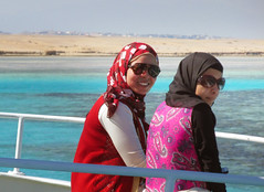 Smiling Egyptian Women (shaire productions) Tags: egypt egyptian travel image picture photo photograph view world hurghada sailing redsea travelphotography smiling women ladies smiles candid street portrait people sea ocean marine happy