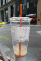 Chill (Flint Foto Factory) Tags: city summer urban chicago cup coffee june shop evening early frozen illinois spring downtown afternoon drink loop empty wells sandwich jackson litter financialdistrict donuts commute late rushhour pm asfound dunkin jimmyjohns 2016 wjacksonblvd