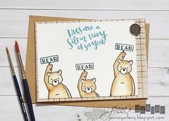 Concord & 9th - Hugs Stamp Set / B-Day Set (jennasdesign) Tags: bear handmade card bday hugs