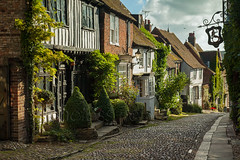 Easy Street (S l a w e k) Tags: street uk travel houses england architecture sussex town europe landmark cobbled historic rye east cobblestones mermaid iconic atmospheric cottages