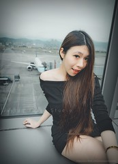 jaylin-0030 ( Jaylin) Tags: travel portrait stockings girl outside ol photo airport model women uniform open library longhair taiwan olympus lookout heels taipei sailor mirco omd pepole hight m43 mzd jelin linjay
