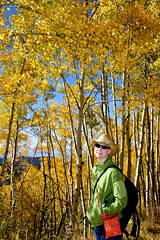 20091009_Aspen_Vista_Trail_0013.jpg (Ryan and Shannon Gutenkunst) Tags: family trees usa santafe hiking hike nm aspen cowboyhat aspenvistatrail shannongutenkunst