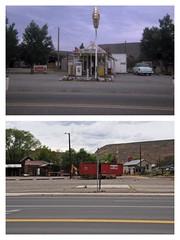 Dayton, NV - US 50 - 1968 and 2016 (tonopah06) Tags: railroad sign us highway nevada nv sp 50 dayton us50 highway50 southernpacific 2016 shellgasstation lyoncounty carsonandcolorado