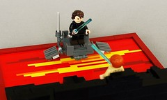 Duel on mustafar (3) (adde51) Tags: star lava starwars lego duel obi anakin wars wan vignette legostarwars skywalker kenobi moc mustafar vig adde51