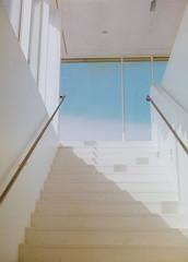 stairway to... (jojonas~) Tags: sky color 120 window stairs ume mamiya645 ektar bildmuseet mamiyam6451000s seemehere