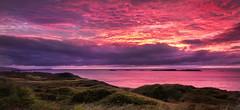 Sun Set - Royal Portrush (Glenn D88) Tags: ireland sea sun castle beach set night golf photography coast ruins slow shutter northen causeway