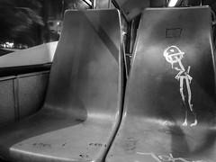 Nobody, 413 (lunat1k) Tags: blackandwhite bus monochrome night silent sofia invisible nobody bulgaria commute stickfigure nonstop bus413 nexus5x commutersofsofia