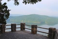 Get a good look of the overlook (daveynin) Tags: sky mountain lake hills hazy overlook