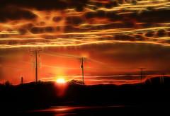 Electric Sunset (LotusMoon Photography) Tags: sunset sky sun postprocessed night clouds photomanipulation photoshop evening outdoor dusk horizon silhouettes dramatic surreal serene htt fractalius telegraphtuesday annasheradon