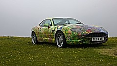 A car in Art. Ted Stourton (Envy Photographic) Tags: ted art cars canon cornwall artistic tintagel astinmartin stourton db7 550d nigelvaux