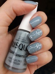 Cinzinha. <3 (lissa_is) Tags: esmalte nail nailpolish glitter risqu bk cinza gray