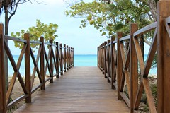 (cori573) Tags: ocean bridge vacation beach wooden sand cuba walkway