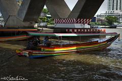 (by claudine) Tags: thailand boat bangkok culture transportation thai longtailboat customs chaophrayariver boattaxi travelphotographyworldphotosuniquebyclaudine